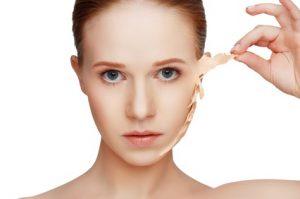 Peeling facial para rejuvenecimiento de la piel